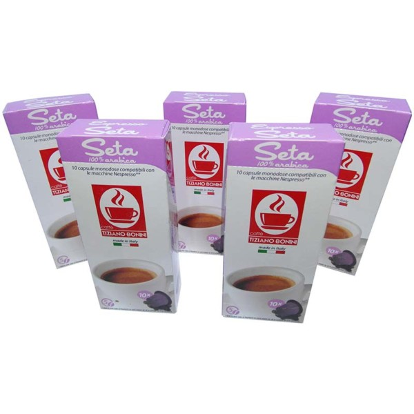 Συμβατές κάψουλες nespresso Espresso Seta 50