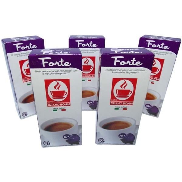 Συμβατές κάψουλες nespresso espresso forte 50