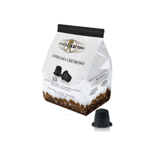 συμβατές κάψουλες Nespresso Miscela doro Espresso Cremoso 10