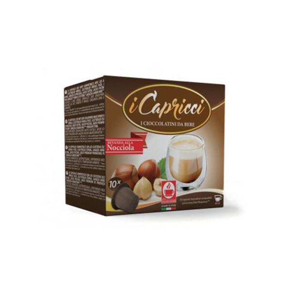 Σοκολάτα φουντούκι Capricci συμβατή κάψουλα Nespresso