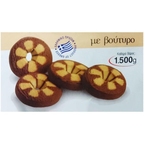 Μπισκότα Βουτύρου Φαίδων 1500g συσκευασία ατομική