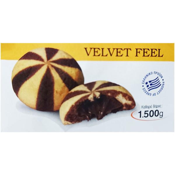 Μπισκότα γεμιστά με πραλίνα Φαίδων 1500g velvet feel