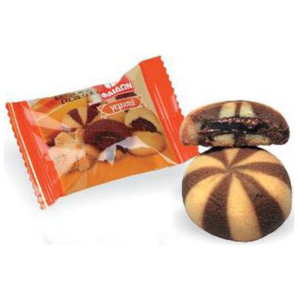 Μπισκότα γεμιστά με πραλίνα Φαίδων velvet feel ατομικά