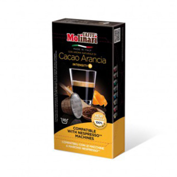 Molinari Espresso Σοκολάτα Πορτοκάλι συμβατές κάψουλες Nespresso