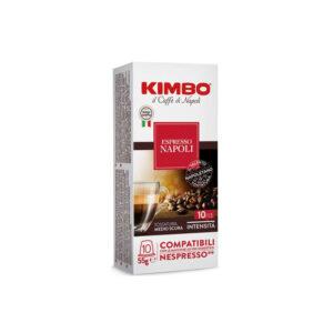 Kimbo Napoli συμβατές κάψουλες Nespresso λευκό κουτί