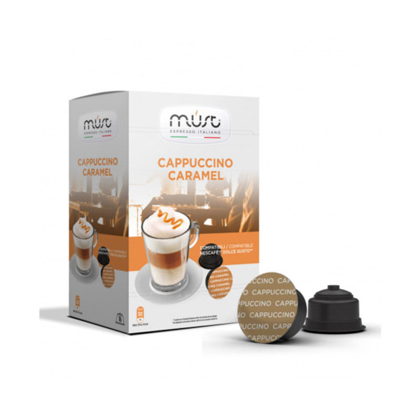 Must Cappuccino Caramel συμβατές κάψουλες Dolce Gusto