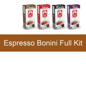 Tiziano Bonini Espresso Full Kit συμβατές κάψουλες Nespresso
