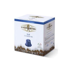 Miscela d'oro Espresso Blue Dec συμβατές κάψουλες Nespresso.