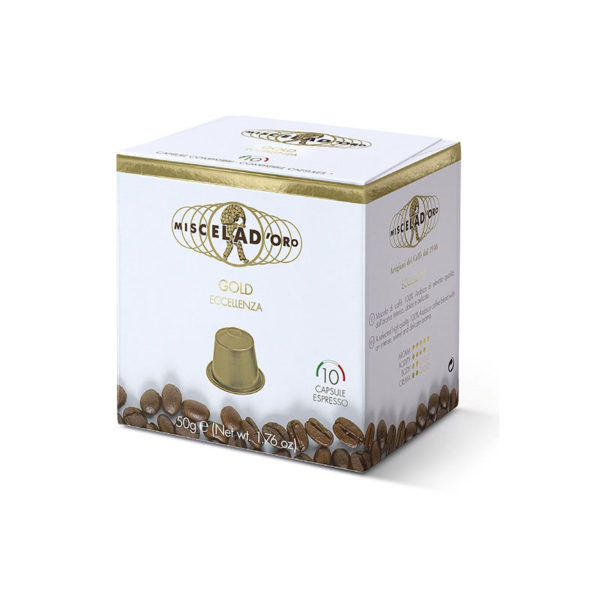 Miscela d'oro Espresso Gold συμβατές κάψουλες Nespresso