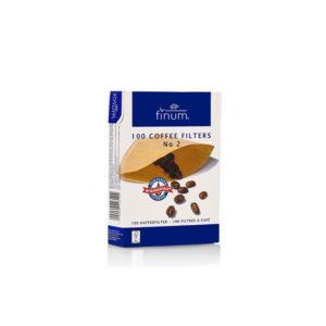 FINUM Coffee Filters NO2 φίλτρα καφέ από αλεύκαστο χαρτί χωρίς κόλλα