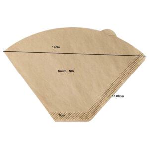 FINUM Coffee Filters NO2 μέγεθος διαστάσεις