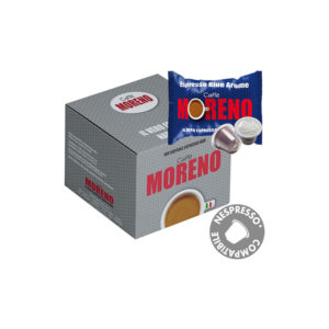Moreno Espresso Blue Arome συμβατές κάψουλες Nespresso κουτί 50