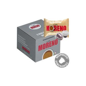 Moreno Espresso Bar συμβατές κάψουλες Nespresso κουτί 50
