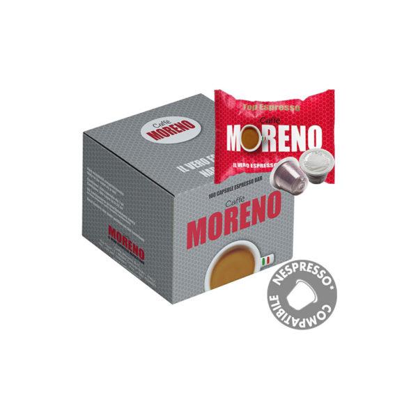 Moreno Top Espresso συμβατές κάψουλες Nespresso κουτί 50