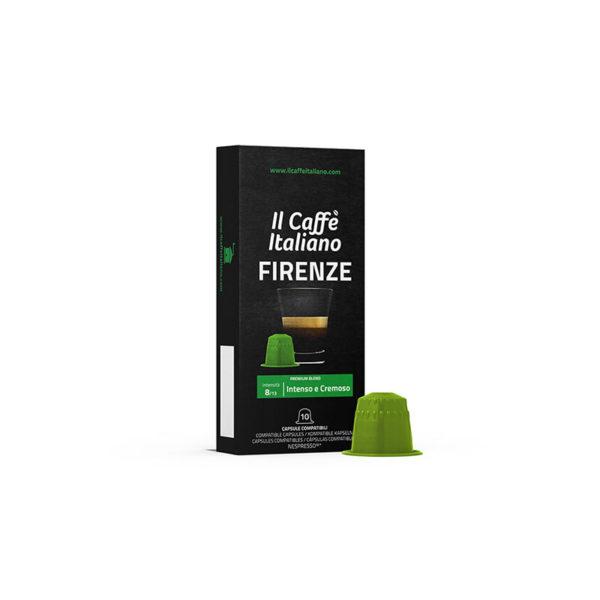 Firenze συμβατές κάψουλες Nespresso 100 τεμάχια πράσινο