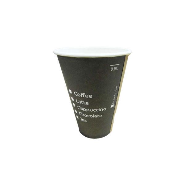 χάρτινο ποτήρι 180ml μιας χρήσης