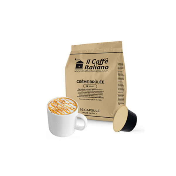 IL Caffe Italiano Creme Brulee συμβατές κάψουλες Dolce Gusto ρόφημα κρεμ μπρουλέ
