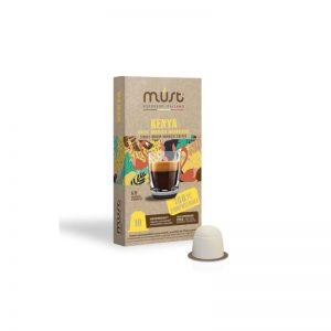 Must Kenya συμβατές κάψουλες Nespresso 10 τεμάχια