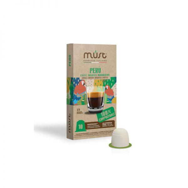 Must Peru συμβατές κάψουλες Nespresso Περού 10 κάψουλες