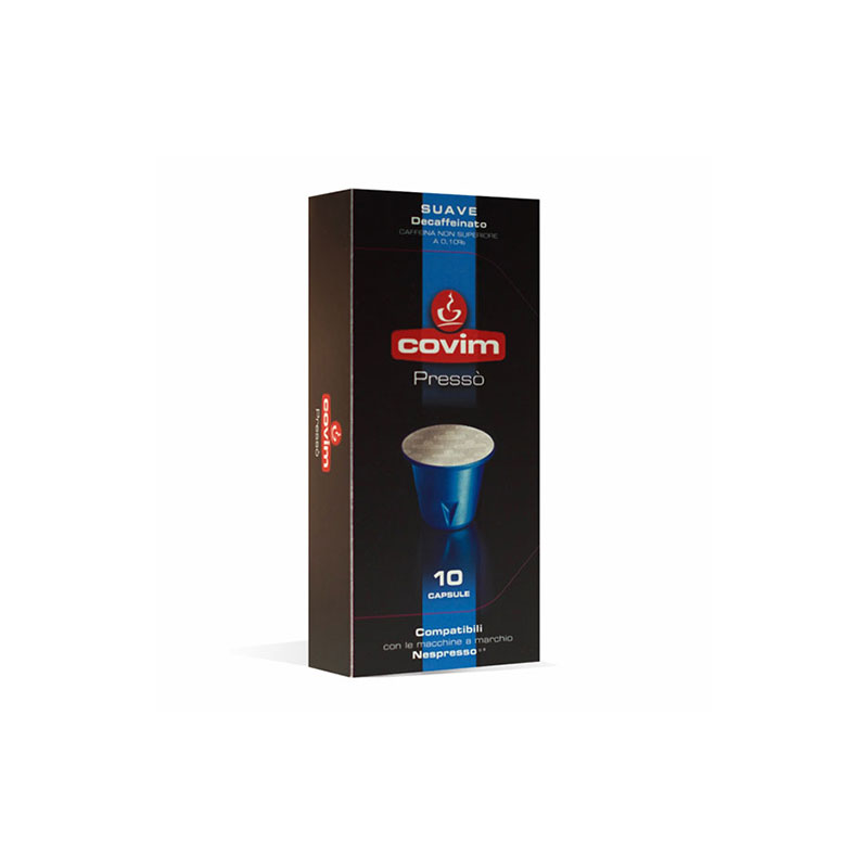Covim Suave Decaffeinato συμβατές κάψουλες Nespresso ντεκαφεινέ