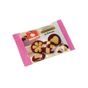 Μπισκότα Φαίδων Βουτύρου καρδιά σε ατομική συσκευασία