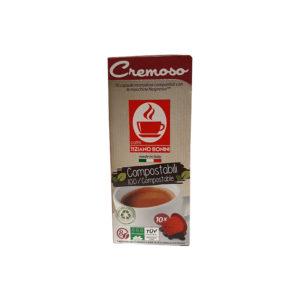 Tiziano Bonini Espresso Cremoso συμβατές κάψουλες ένταση 8/10