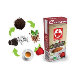 Tiziano Bonini Espresso Cremoso συμβατές κάψουλες compostable