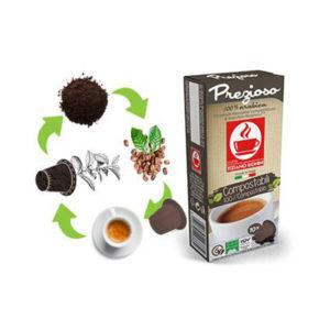 Tiziano Bonini Espresso Pregioso συμβατές κάψουλες compostable
