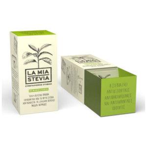 Στέβια 80g – 40 Φακελάκια La Mia Stevia Κρυσταλλική φακελάκια 40 τεμάχια