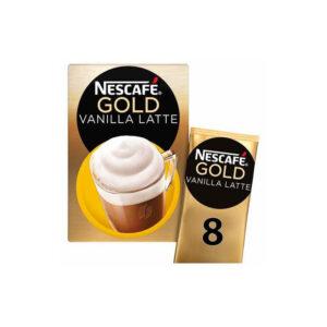 Nescafe Στιγμιαίος Cappuccino Vanilla Latte με φακελάκι δίπλα