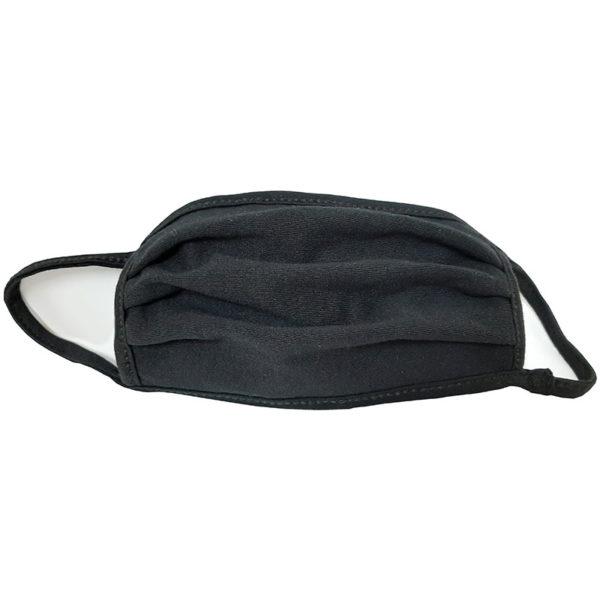 Μάσκα προσώπου βαμβακερή πλενόμενη μαύρη 1 τεμάχιο πολλών χρήσεων