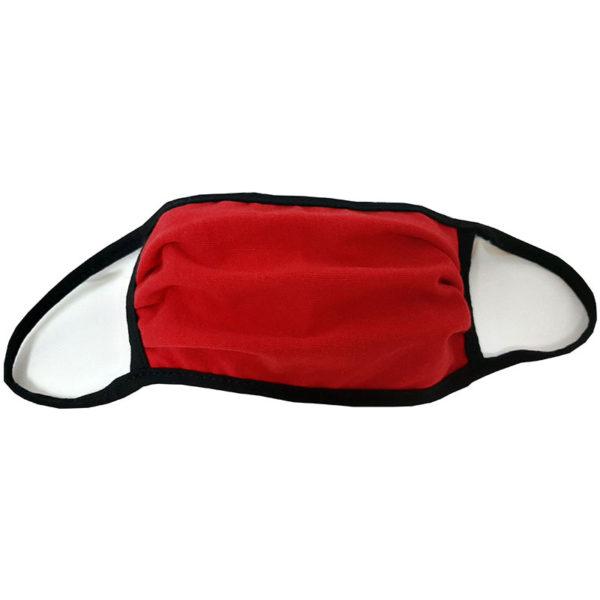 Μάσκα προσώπου βαμβακερή πλενόμενη κόκκινη