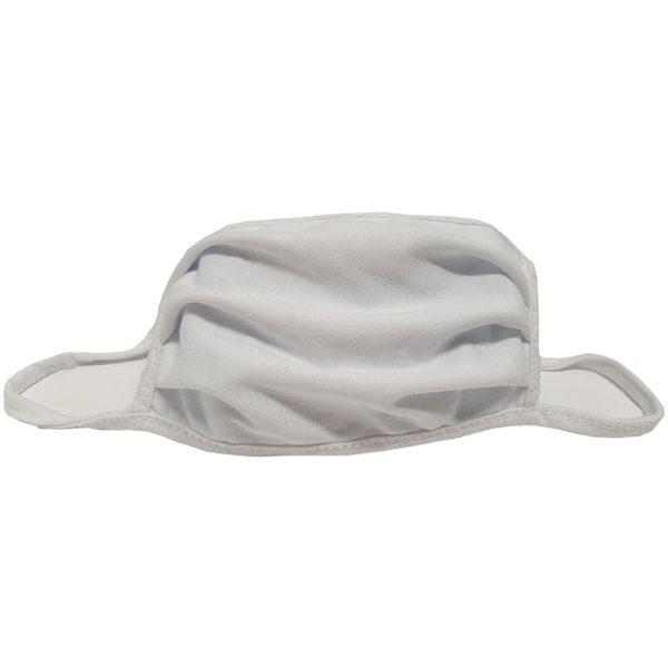 Μάσκα προσώπου βαμβακερή πλενόμενη λευκή 1 τεμάχιο