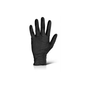 Γάντια Νιτριλίου μαύρα Medium στο χέρι