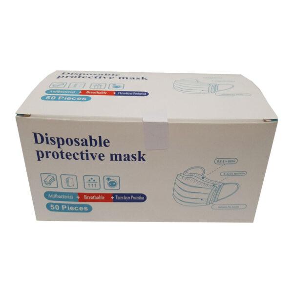 Μάσκες προσώπου νοσοκομειακές μιας χρήσης κουτί 50 τεμάχια