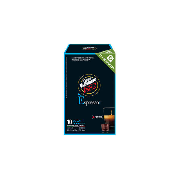 Vergnano espresso Decaf Compostable