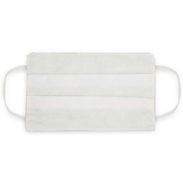 Μάσκα προσώπου μιας χρήσης λευκή 1 τεμάχιο 3ply