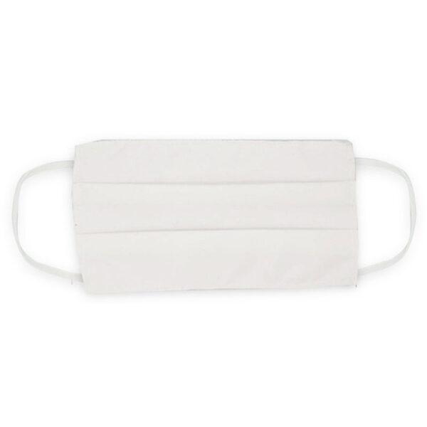 Μάσκα προσώπου βαμβακερή πλενόμενη λευκή με λάστιχο