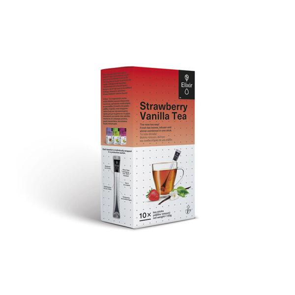 ELIXIR Strawberry Vanilla στικ τσαγιού 10 τεμάχια