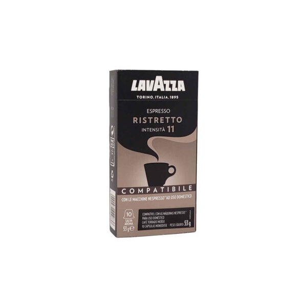 Lavazza συμβατές κάψουλες Nespresso Ristretto ένταση 11