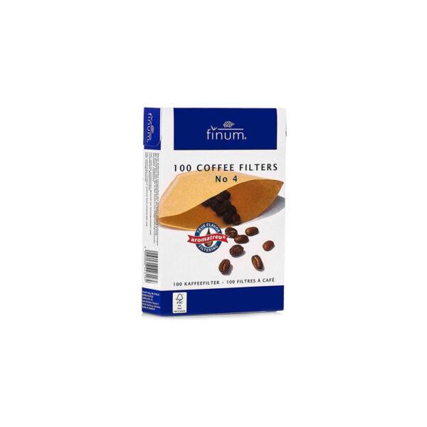 FINUM Coffee Filters NO4 100 τεμάχια χάρτινα φίλτρα καφέ