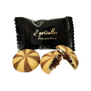Μπισκότα Getcoffee Φουντούκι γεμιστά 1 τεμάχιο ανοιχτό