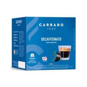 Carraro espresso Decaffeinato κάψουλες Dolce Gusto 16 τεμάχια