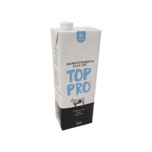 Γάλα TOP PRO UHT 0% συσκευασία 1,5lt κρύο αφρόγαλα