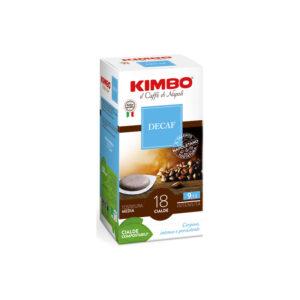 Ταμπλέτες espresso Kimbo Decaf ese pods